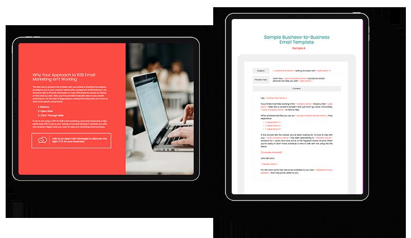 Successful B2B email marketing ipad